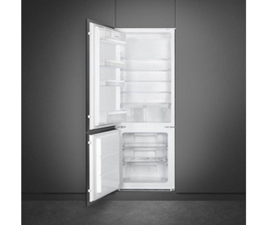 Smeg C4172FL inbouw koelkast - nis 178 cm. - sleepdeur