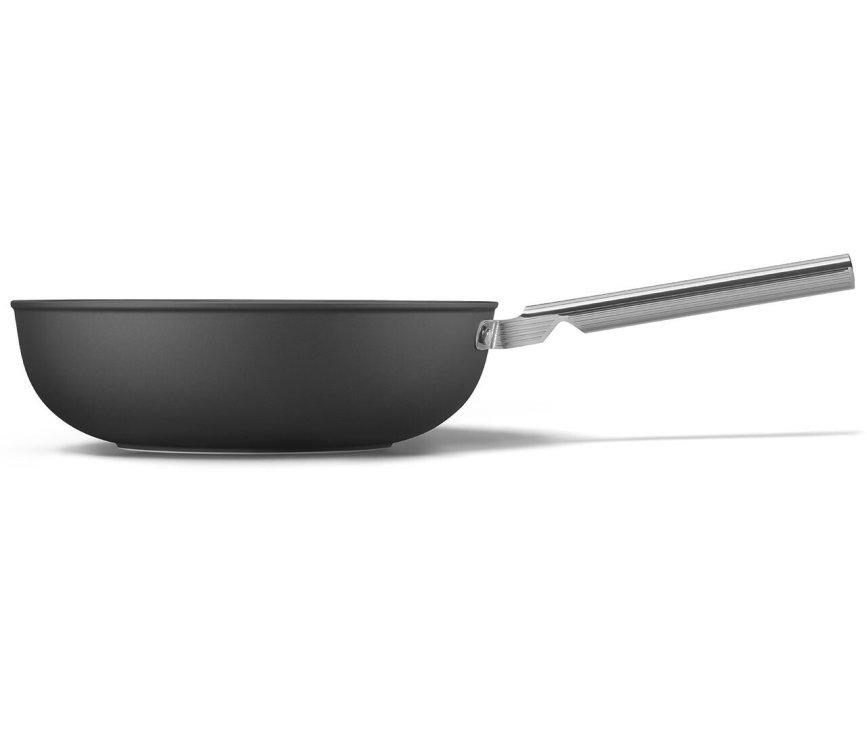 SMEG wokpan mat-zwart CKFW3001BLM