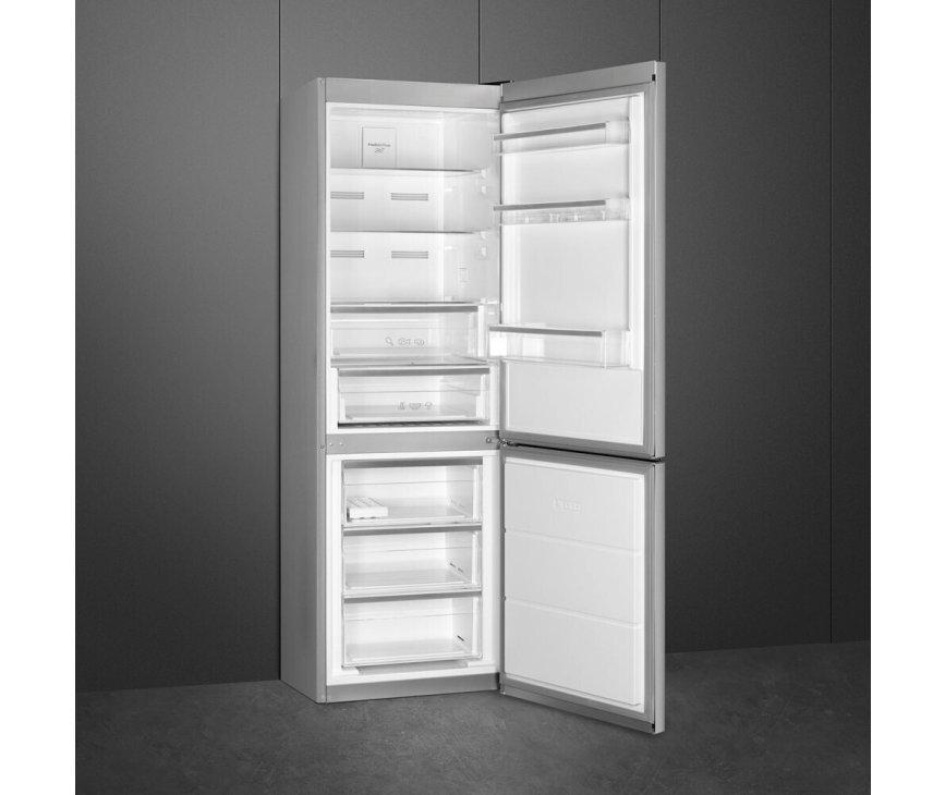 Smeg FC18DN4AX vrijstaande koelkast - rvs-look