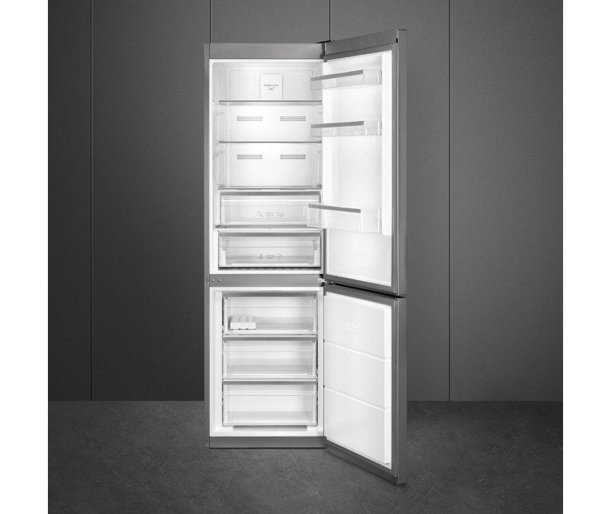 Smeg FC18EN4AX no-frost koelkast - roestvrijstaal - koel/vriescombinatie