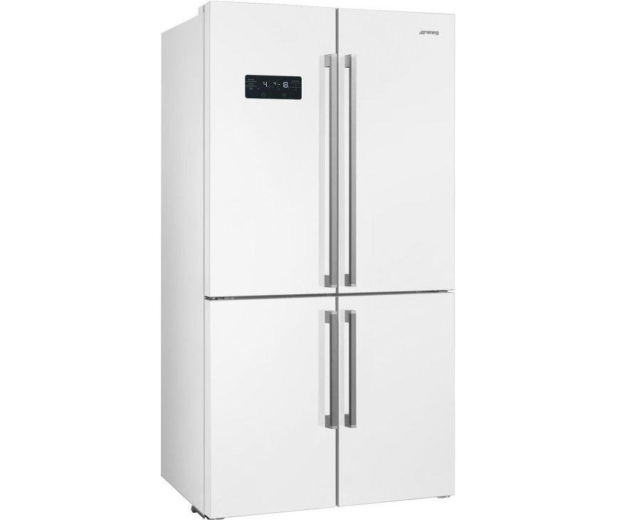 Smeg FQ60BDF side-by-side koelkast - 4-deurs - wit