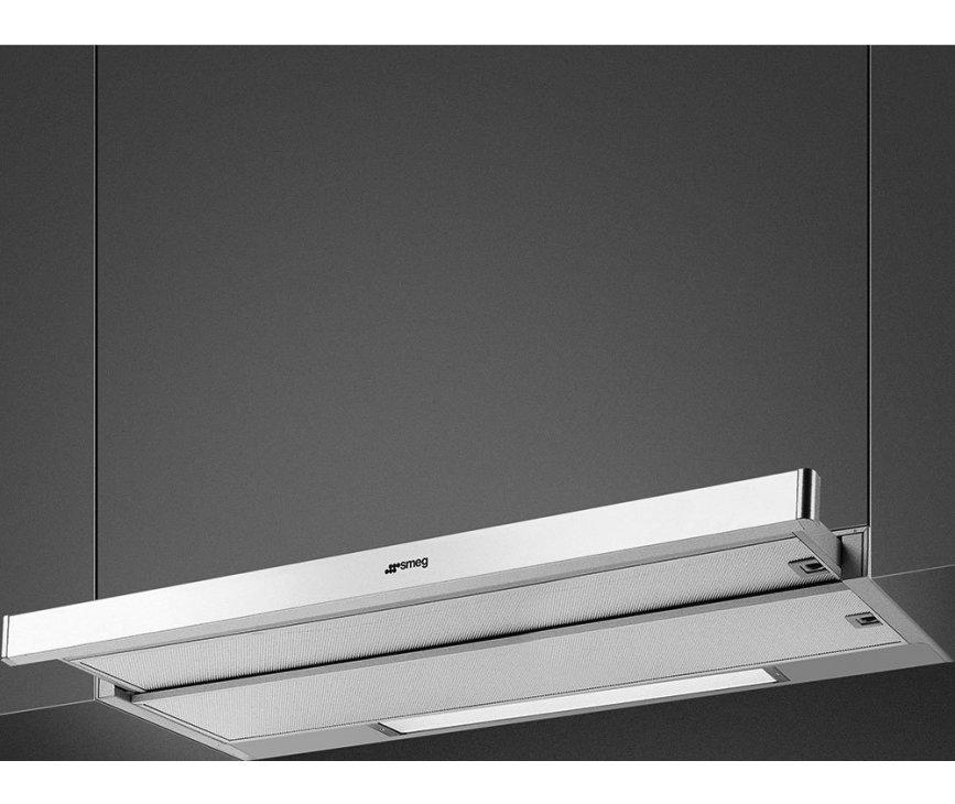 Smeg KSET9XE2 vlakscherm afzuigkap - 90 cm. breed