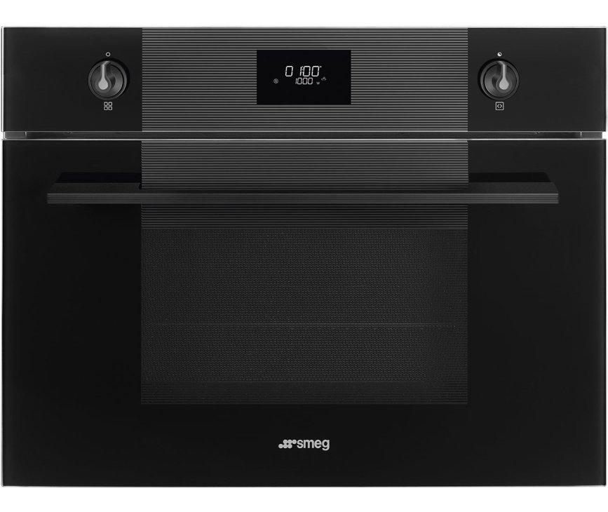 Smeg SF4101MCNO inbouw oven met magnetron - zwart