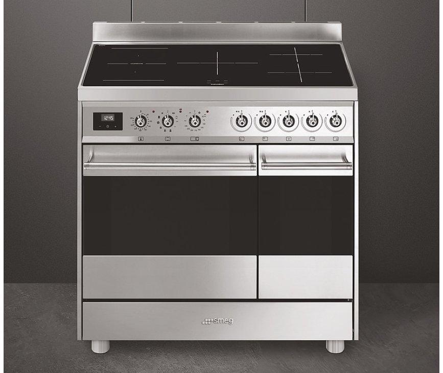 Smeg C92IPX9 inductie fornuis met multizone en twee ovens