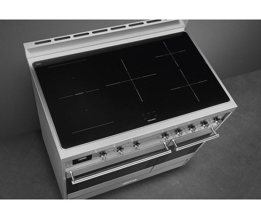 Het kookgedeelte van de C92IPX9 bevat 5 zones waaronder een multizone