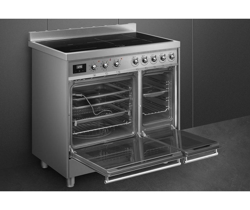Bij de juiste elektra aansluiting zijn beide ovens tegelijkertijd te gebruiken.