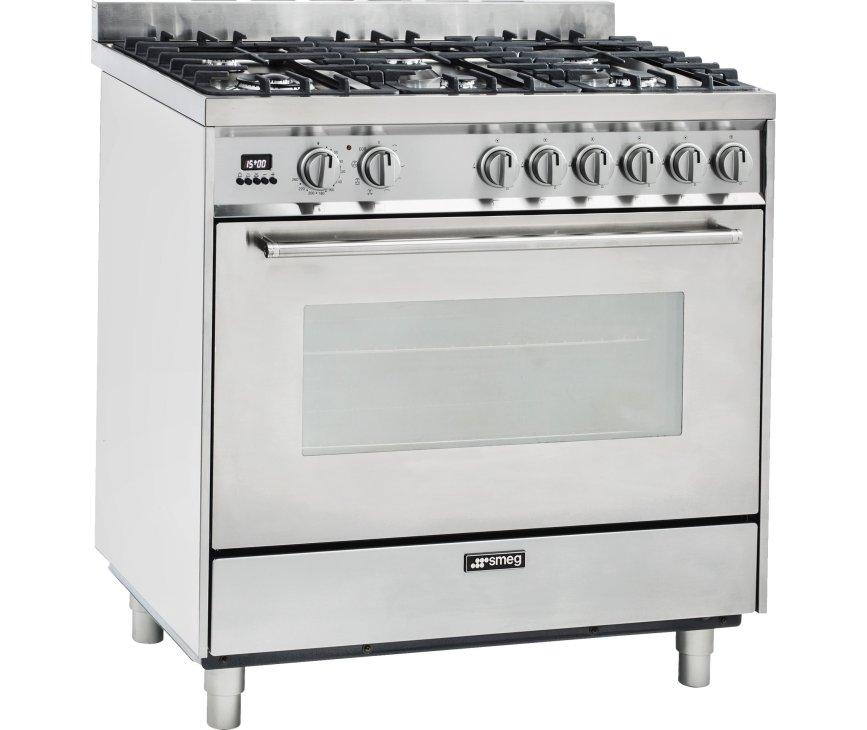 Het strakke design maakt de Smeg DS9GMX fraai te integreren in iedere keuken