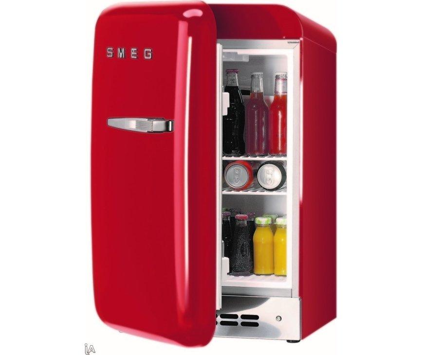 Smeg FAB5LR rode koelkast - linksdraaiend