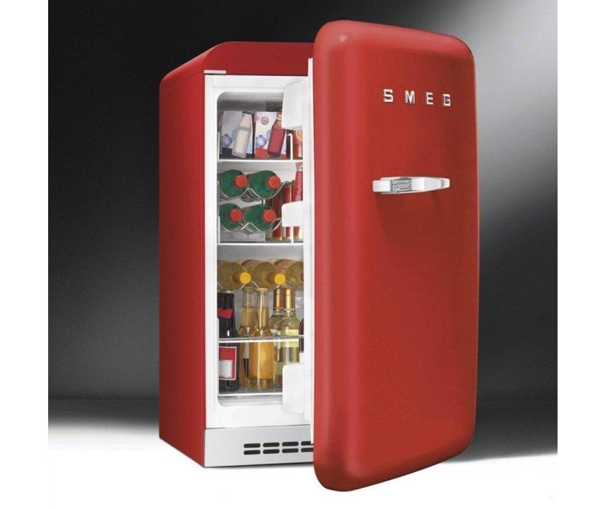 Smeg FAB5RR koelkast rood - rechtsdraaiend