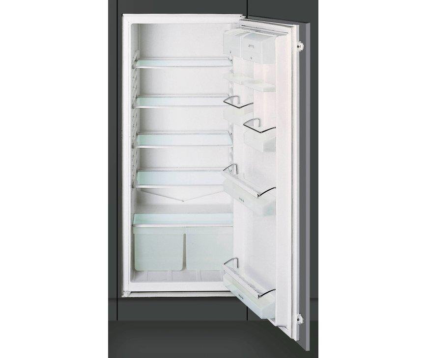 De Smeg FL224P inbouw koelkast is uitgevoerd in een nishoogte van 122 cm