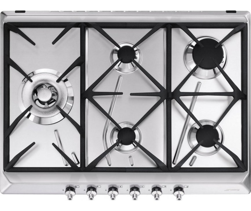 Smeg GKC755NLK inbouw kookplaat - 70 cm. breed