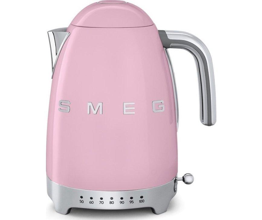 Smeg KLF04PKEU waterkoker roze heeft een inhoud van 1,7 liter