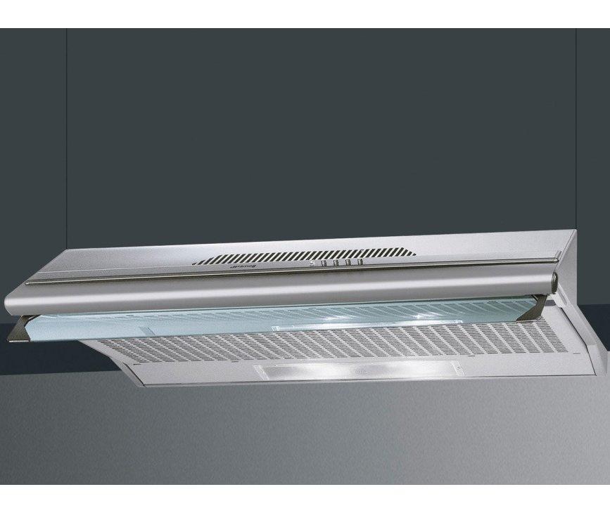De Smeg KSEC66XE is een onderbouw afzuigkap die onder een keukenkast of vrijhangend aan de muur gemonteerd kan worden.