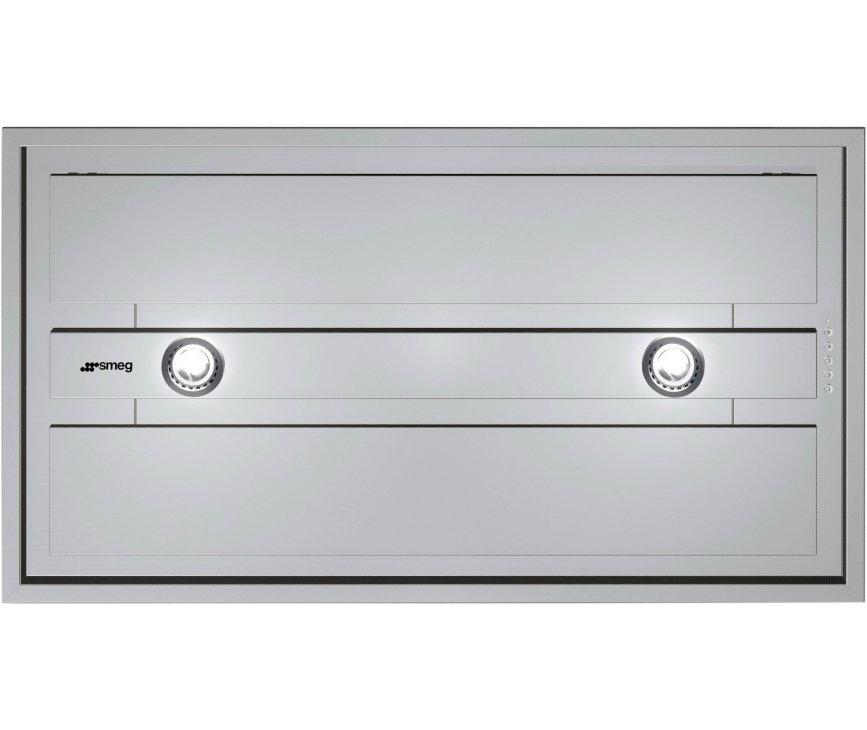 De Smeg KSEG90XE inbouw afzuigkap heeft een afzuigcapaciteit van 750 m3/uur