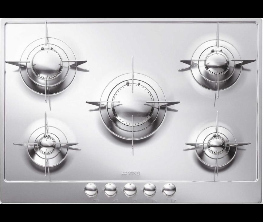 Smeg PNL705ES inbouw kookplaat gas