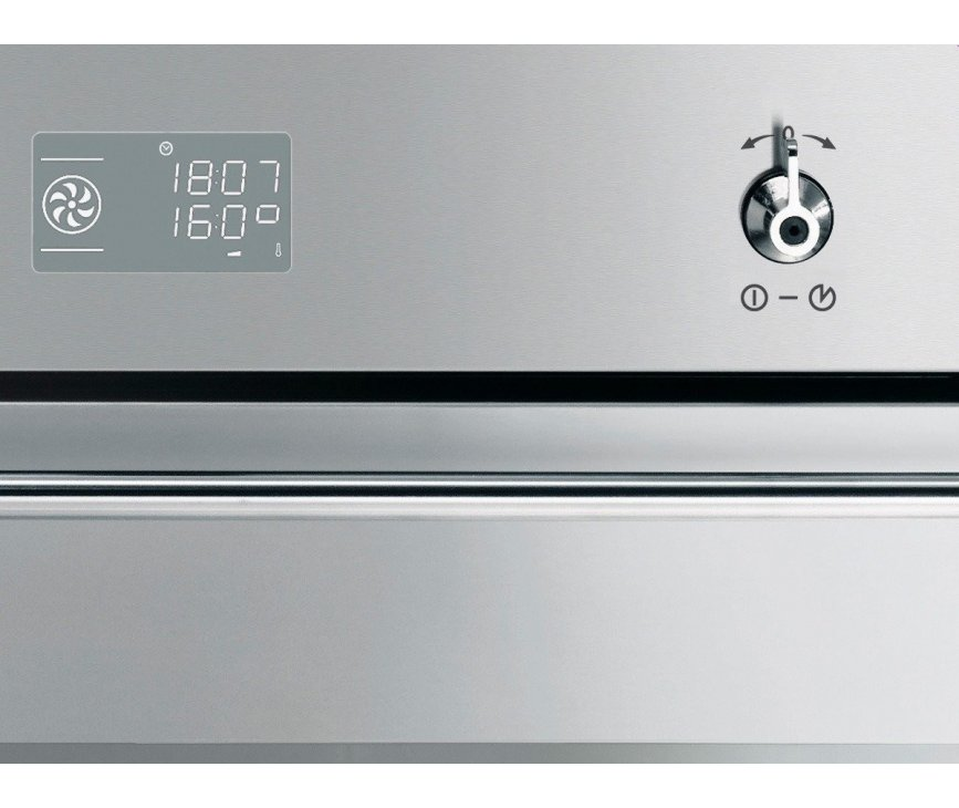 het bedieningspaneel van de Smeg SF390X inbouw oven