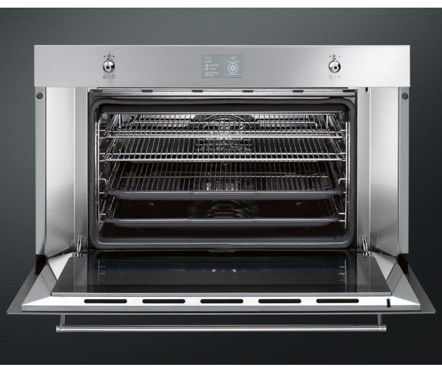 De binnenzijde van de Smeg SFP3900X inbouw oven