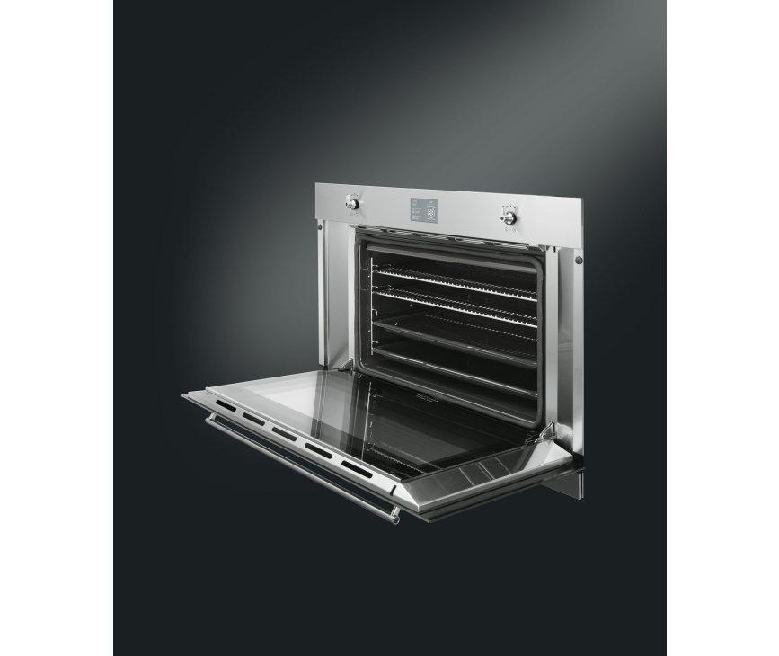 De Smeg SFP3900X inbouw oven beschikt over 16 functies