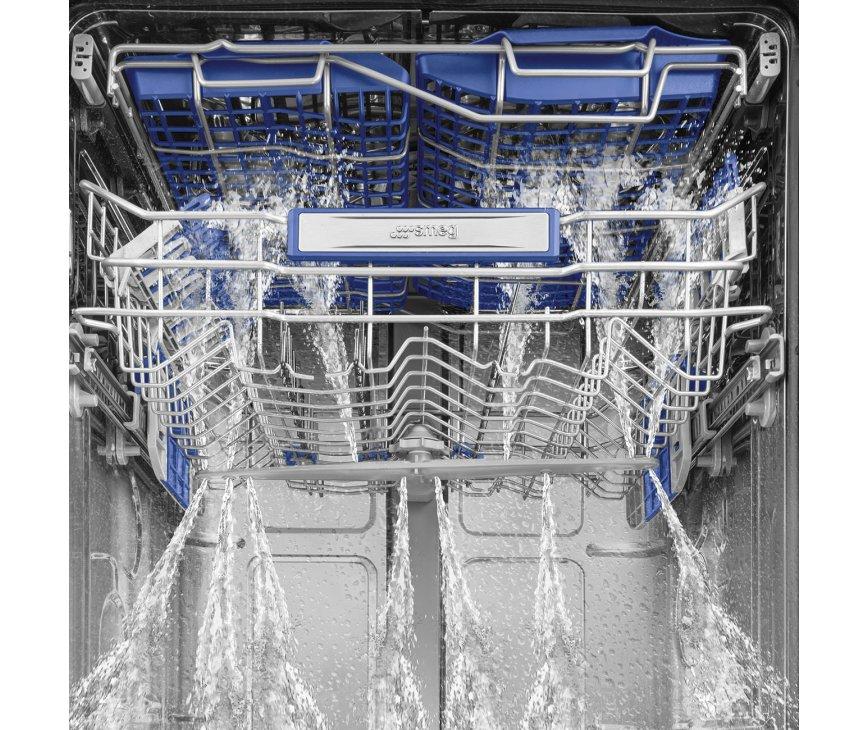 Smeg LVSP345BQX vrijstaande vaatwasser met besteklade