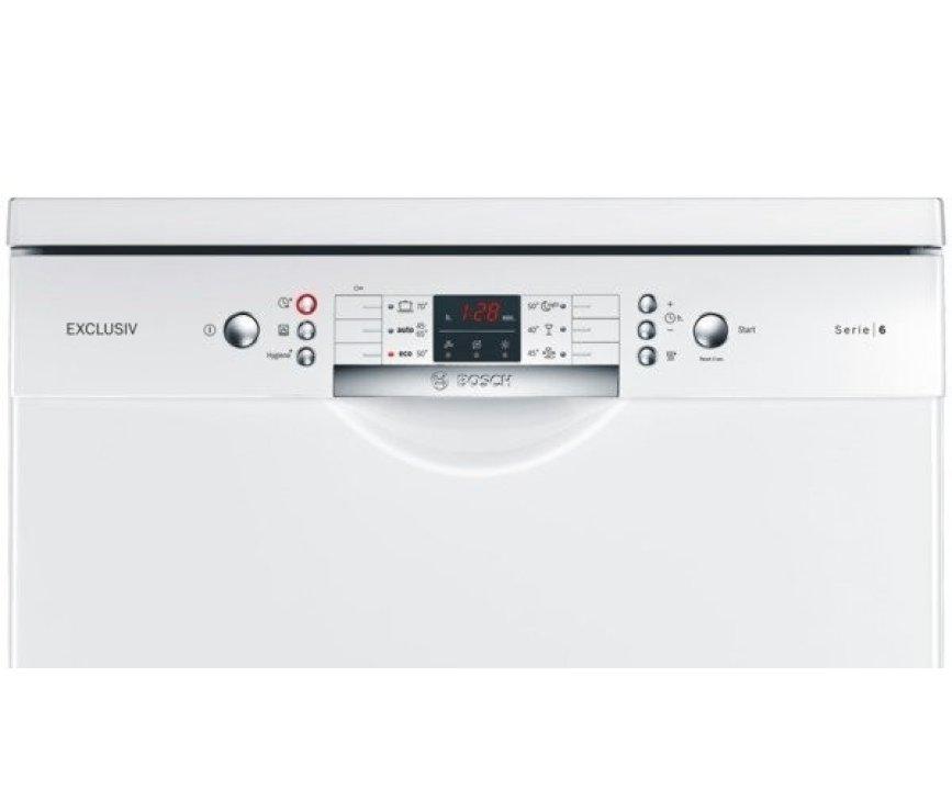 Het bedieningspaneel van de Bosch SMS86M12EU vaatwasser vrijstaand