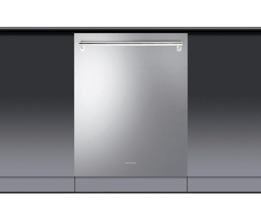 Door de roestvrijstalen deur en kenmerkende SMEG stanggreep is deze vaatwasser perfect te combineren met andere SMEG Classici apparaten