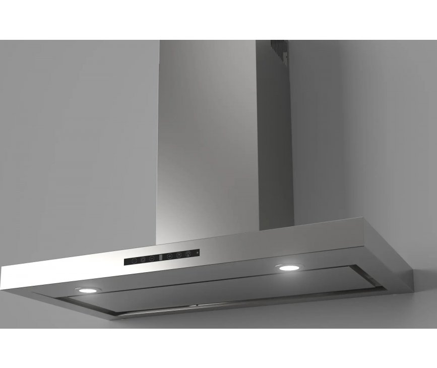 Stoves Level 1100 RVS wand afzuigkap - 110 cm. breed - roestvrijstaal