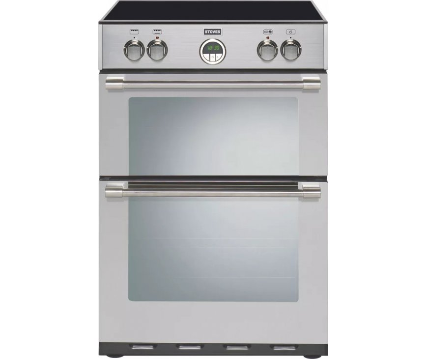 Stoves STERLING 600 MF Ei  EU inductie fornuis - dubbele oven - 60 cm. breed - rvs