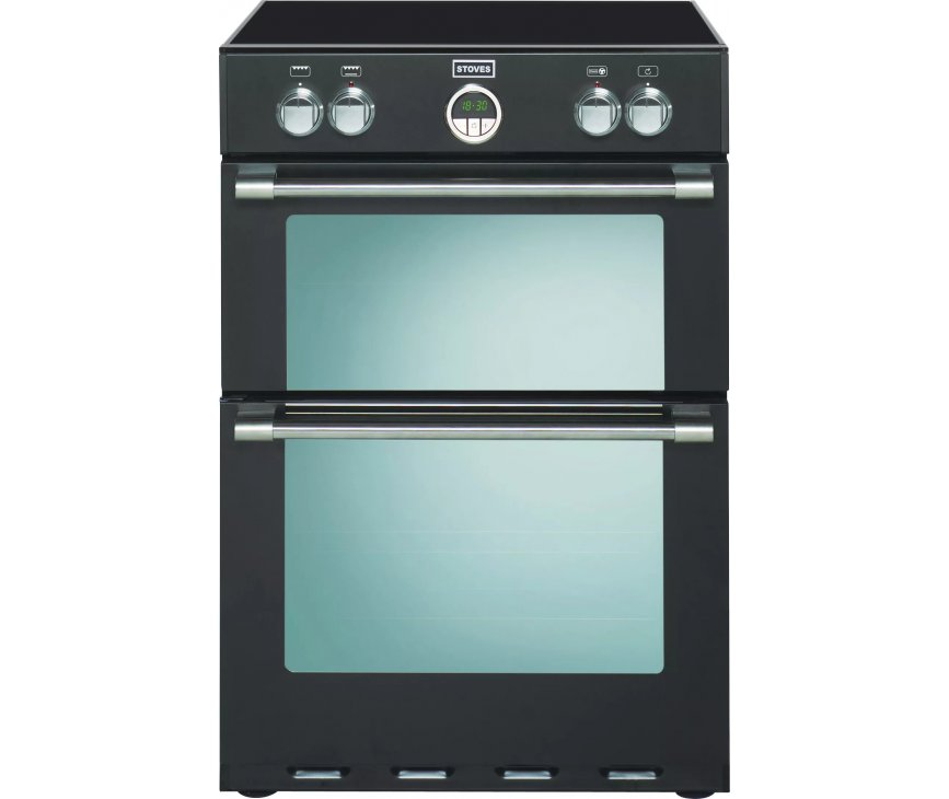 Stoves STERLING 600 MF Ei  EU inductie fornuis - dubbele oven - 60 cm. breed - zwart