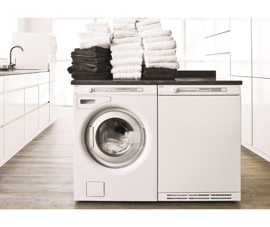 De Asko T884 XL HP is perfect te combineren met bijpassende wasmachine