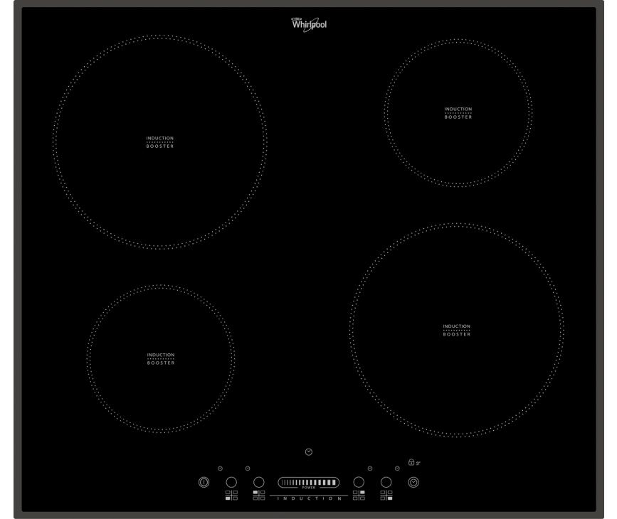 WHIRLPOOL kookplaat inductie ACM806BA