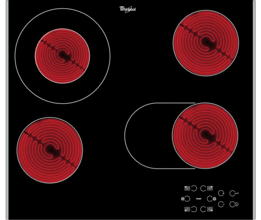 Whirlpool AKT8210LX keramische kookplaat