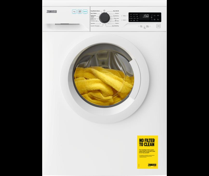 Zanussi ZWFN742TW wasmachine - 1400 toeren - 7 kg.