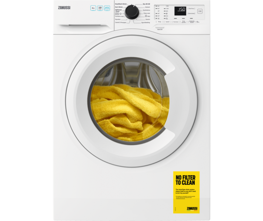 Zanussi ZWFN844TW wasmachine - 1400 toeren - 8 kg. vulgewicht
