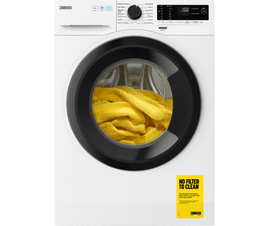 Zanussi ZWFPARMA wasmachine - 1400 toeren - 8 kg. vulgewicht