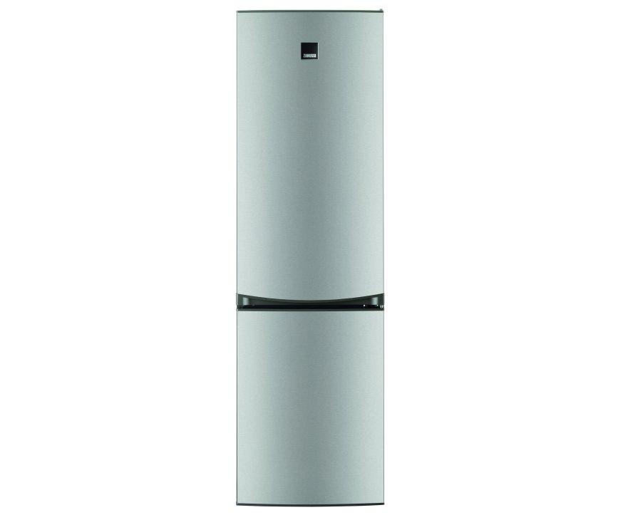 De buitenzijde van de Zanussi ZRB34214XA koelkast rvs