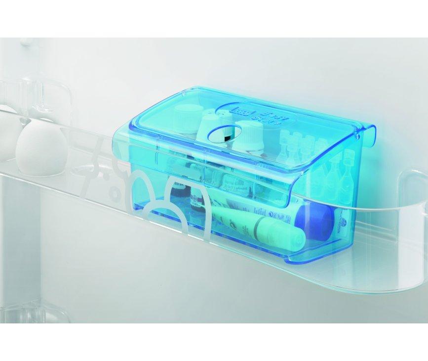 De easystore-boxen van de Zanussi ZRB34214XA koelkast rvs zijn uitermate geschikt om kleine zaken als medicijnen of make-up te koelen