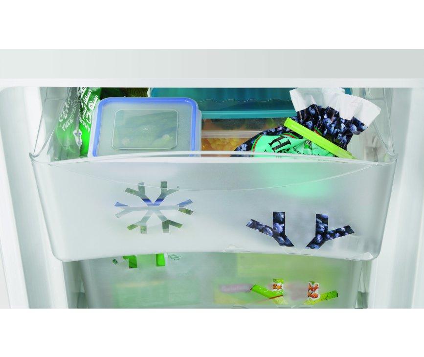 De verslades van de Zanussi ZRB34214XA koelkast rvs, om uw verswaar ook echt vers te houden