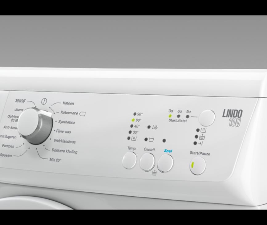 Het bedieningspaneel van de Zanussi ZWF61400W wasmachine
