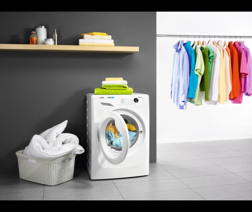 De Zanussi ZWF71463W wasmachine heeft een capaciteit van 7 kg