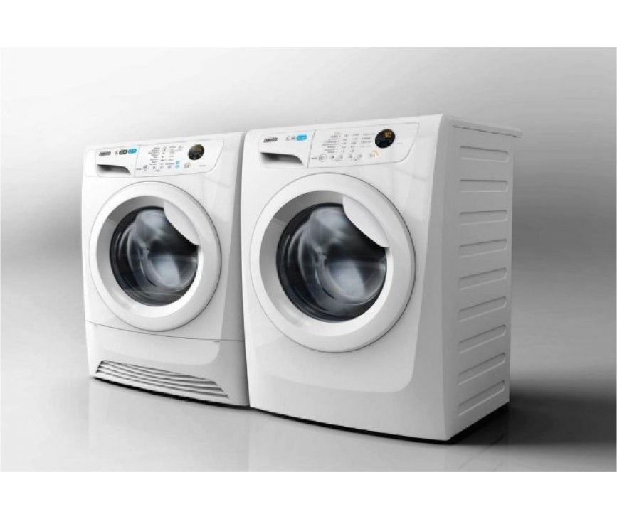 De Zanussi ZWF81463W wasmachine kan desgewenst gecombineerd worden met bijpassende condens of warmtepomp droger