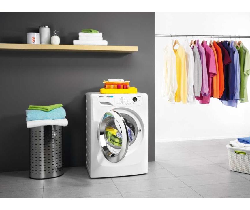 Het design van de Zanussi ZWF81463WH mag ook zeker benoemd worden bij deze wasmachine