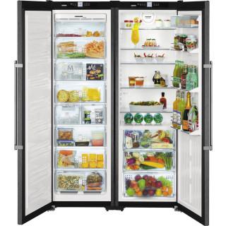 LIEBHERR koelkast BlackSteel SBSbs7263-20 (outlet)
