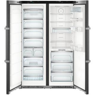 LIEBHERR koelkast side-by-side blacksteel SBSbs8683-21