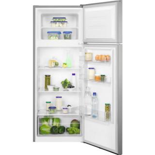 ZANUSSI koelkast zilver met vlekvrij rvs-look deur ZTAN24FU0
