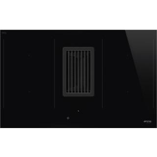 SMEG inductie kookplaat met afzuiging inbouw HOBD482D