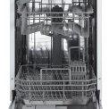 Etna VW47SM inbouw vaatwasser - smal 45 cm. breed - 47 dB
