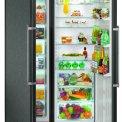 De Liebher SBSbs7263 side-by-side koelkast heeft een totale inhoud van 620 liter