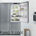 ASKO side-by-side koelkast uitgevoerd in roestvrijstaal
