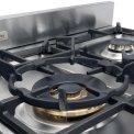 Het kookgedeelte van de Boretti MFBG902AN is voorzien van een Dual Fuel wokbrander in het midden