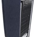 Foto van de achterzijde van de SMEG koelkast spijkerstof FAB28RDB